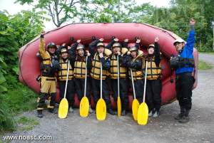 Niseko Rafting on the Shiribetsu river in June